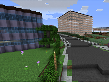 Danmarks frie geodata i en Minecraft-verden