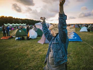 Festivaldeltagere deler geografisk information