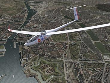 Virtuel svæveflyvning over Danmark